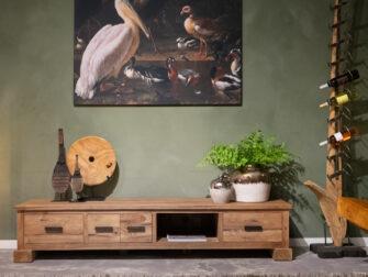 groot teakhouten tv meubel