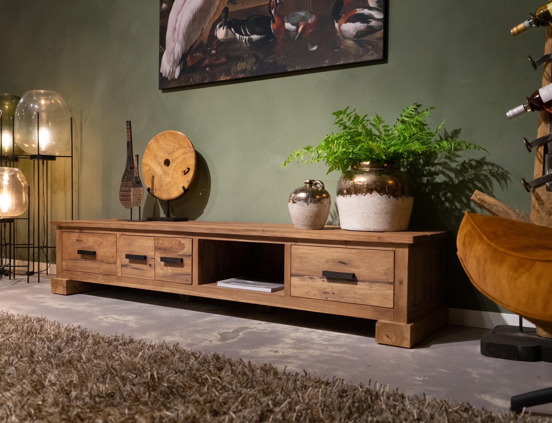 reclaimed teak tv-meubel