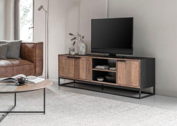 TV-meubel Divino 165x40x40cm - stalen onderstel