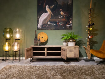 Stoer tv meubel met stalen frame