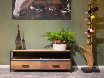 tv-meubel stoer hout