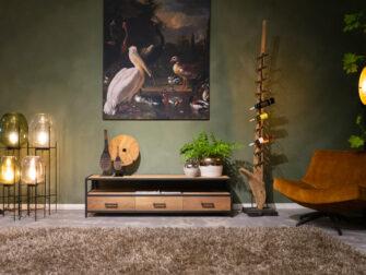 stoer tv-meubel van hout