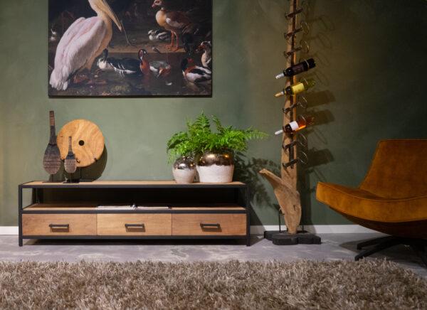 tv-meubel zwarte accenten