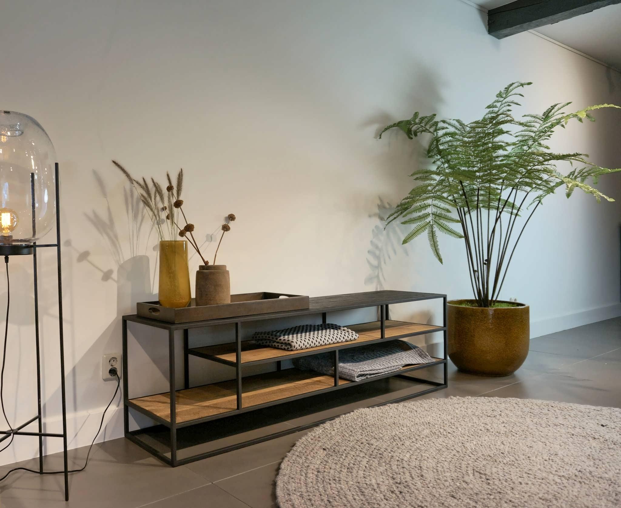 stoer tv-meubel stalen frame