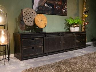 tv-meubel old black