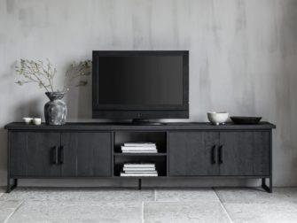 Industrieel tv meubel zwart