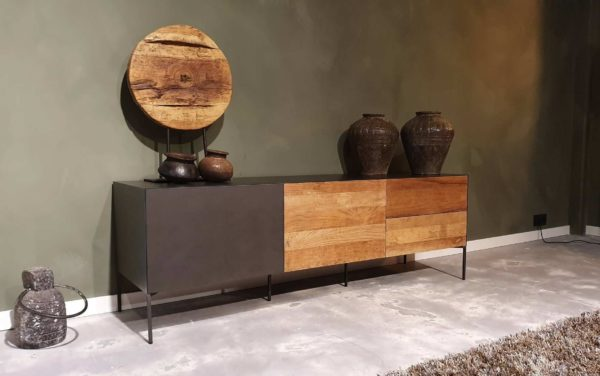 industrieel tv meubel met grote lades