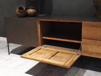 Industrieel tv meubel met opbergruimte