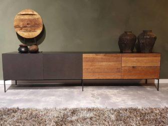 Gesloten industrieel tv meubel