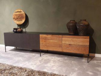 Industrieel tv meubel hout