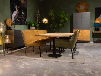 Bank tafel eetkamerstoelen