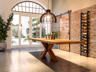 tafel houten spinpoot
