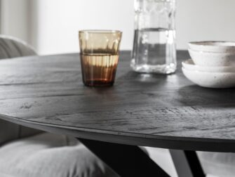 ronde tafel oud teak