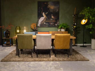 tafel stalen poten