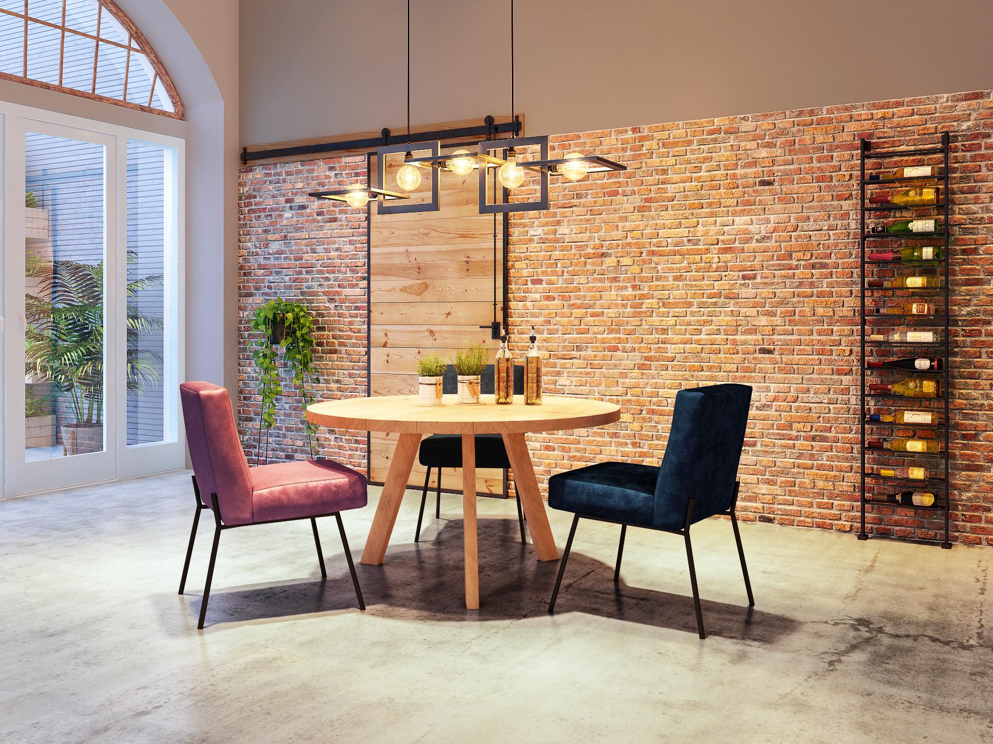 houten ronde tafel