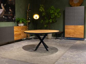 teak tafel rond