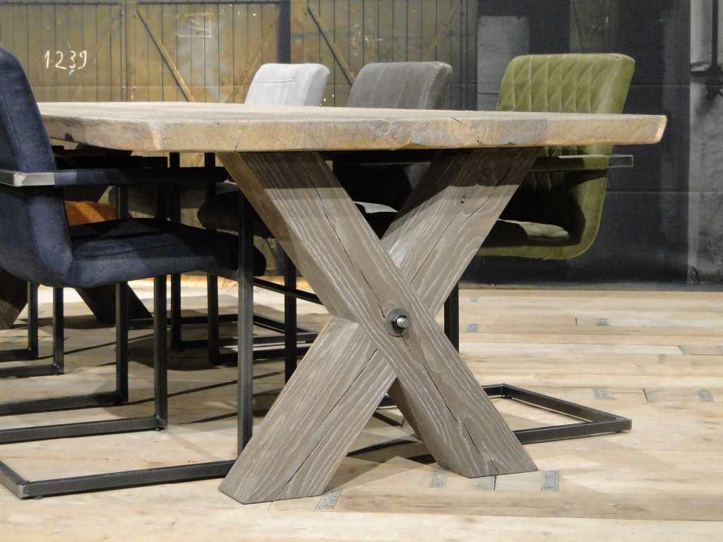 Wit Eiken Tafel : Massief eiken kruispoot tafel montauro robuustetafels