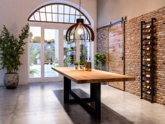 Tafel Orvieto 300x100cm - gerookt ultra matte lak