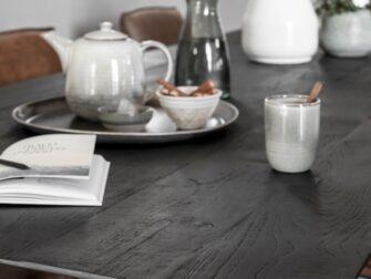 tafel zwart teak