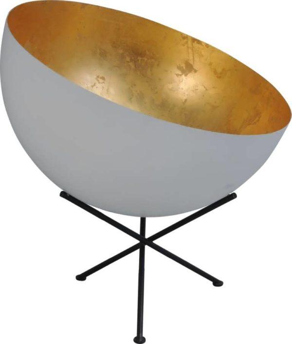 tafellamp white outside goldleaf inside