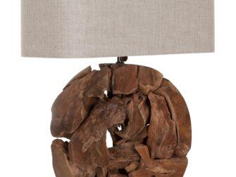 houten tafellamp