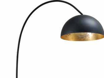 vloerlamp gunmetal outside goldleaf inside