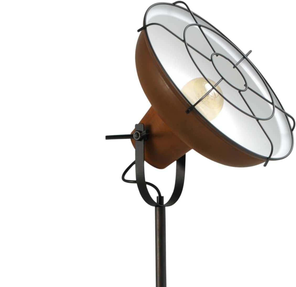 roestige vloerlamp