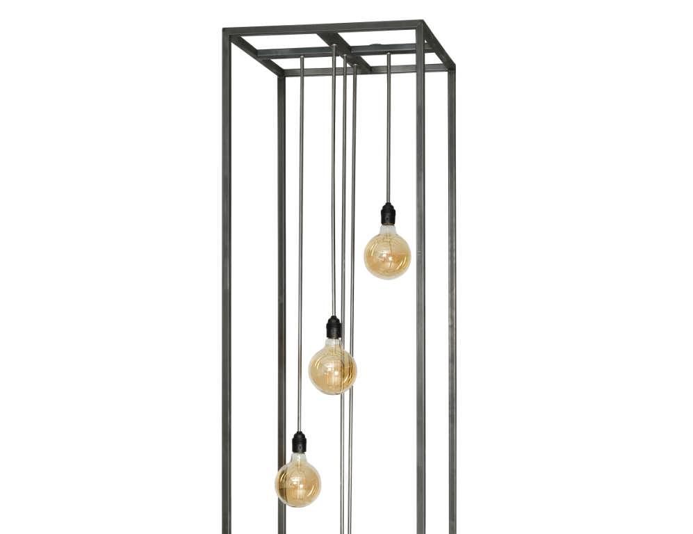 industriële vloerlamp furio xxl - van industrieel staal met 5x e27