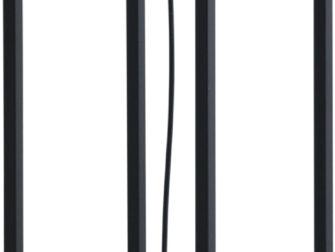 zwarte stalen vloerlamp