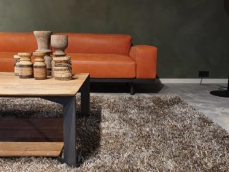 Oranje loungebank