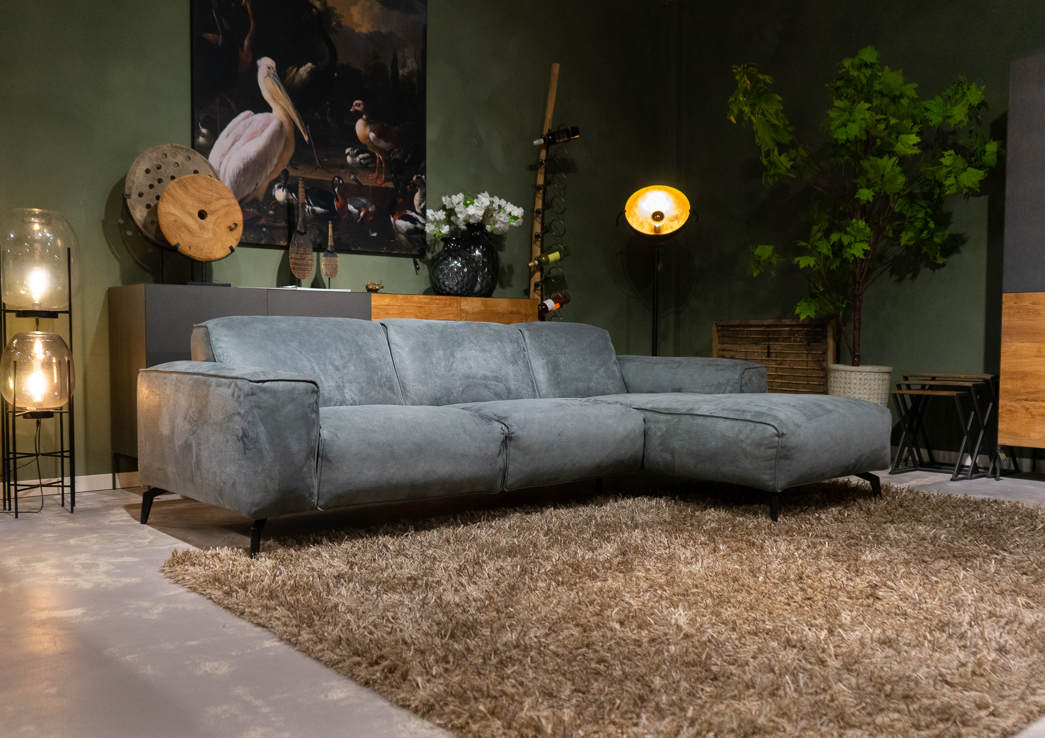 bank met chaise longue