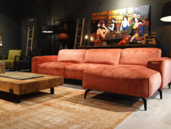 Roze loungebank