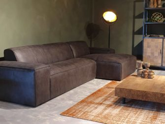 comfortabele stoffen bank
