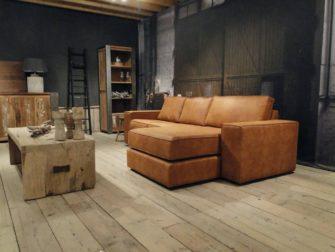Chaise longue bank cognac