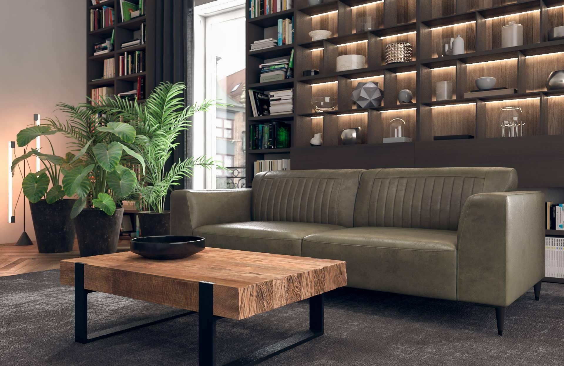 Leren Relax Bankstel.Tivoli Bank Met Zeer Comfortabele Zit In Leer Of Stof