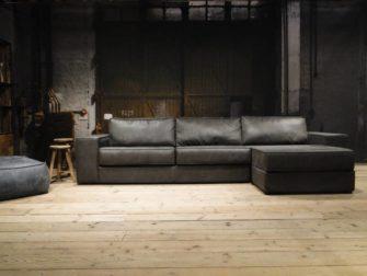 3 zits bank met lounge grijs