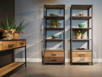 Houten Open Kast : Industriële kast kopen kasten met robuuste look robuustetafels