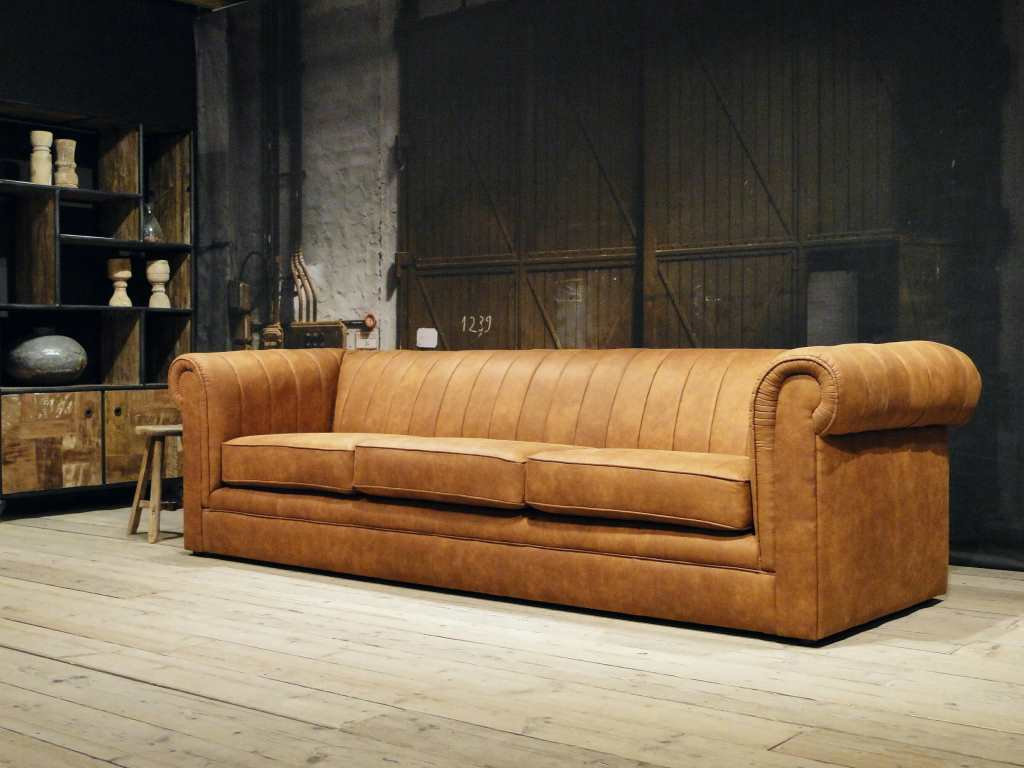 stoere chester bank 4 zits jeep stof cognac