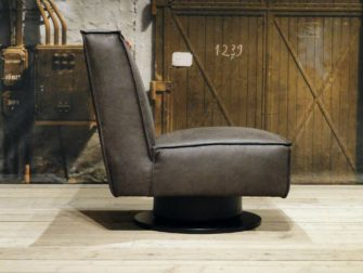 draai fauteuil bruin