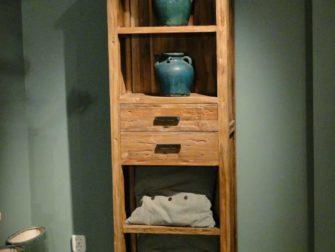 boekenkast oud teak