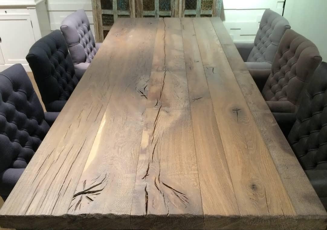 Gerookt Eiken Tafel : Eiken kloostertafel duard uniek maatwerk robuustetafels