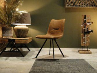 leren kuipstoel