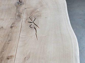 maatwerk eiken boomstamtafel