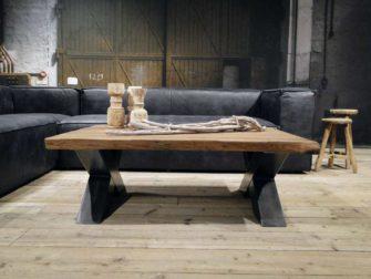 stoere eiken salontafel