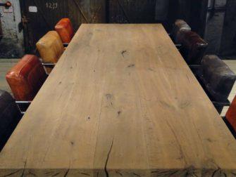 Enkel gerookt oud eiken - 4 planken blad standaard rustiek