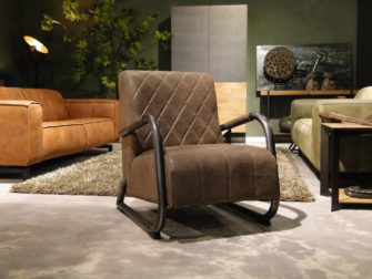 Fauteuil Alonso - getoond in leer kleur taupe