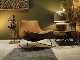 Comfortabele stoel in cognac