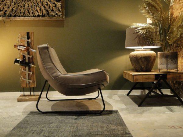 stoere relaxstoel in leer
