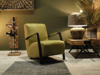 Groene industriële fauteuil