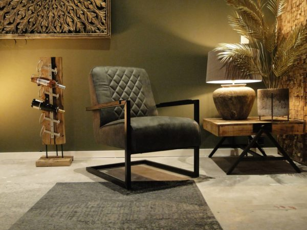 Stoere grijze swingstoel